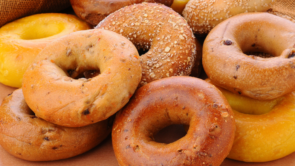 Selection of different bagels