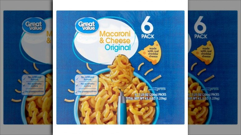 Great Value macaroni and cheese from Walmart
