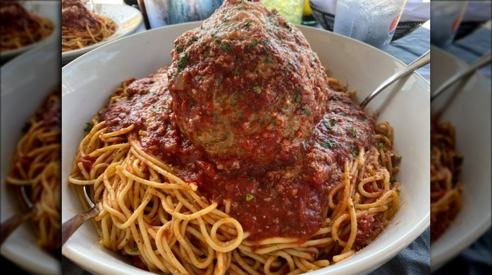 The Hill of Spaghetti at Mama's on the Hill