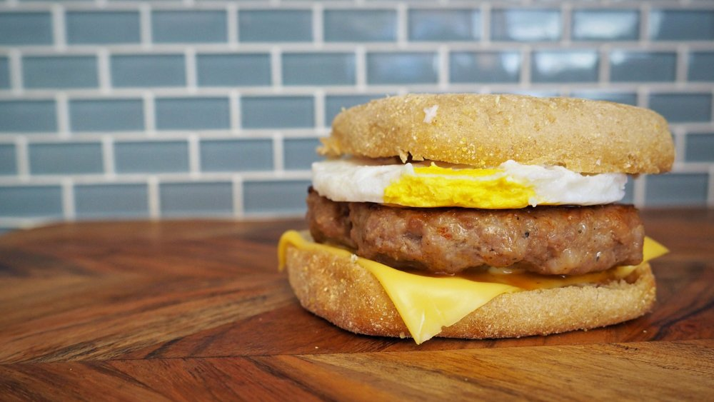 5 Ingredient Copycat Mcdonald S Sausage Mcmuffin With Egg Recipe