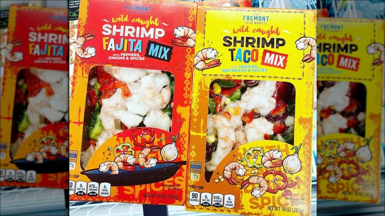 Aldi shrimp fajita and taco mixes