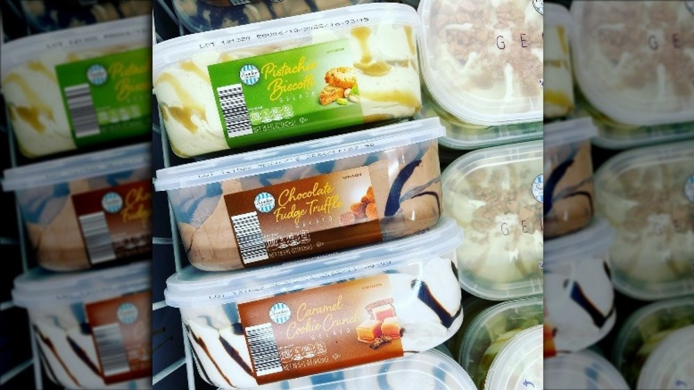Cartons of Aldi's new gelato products