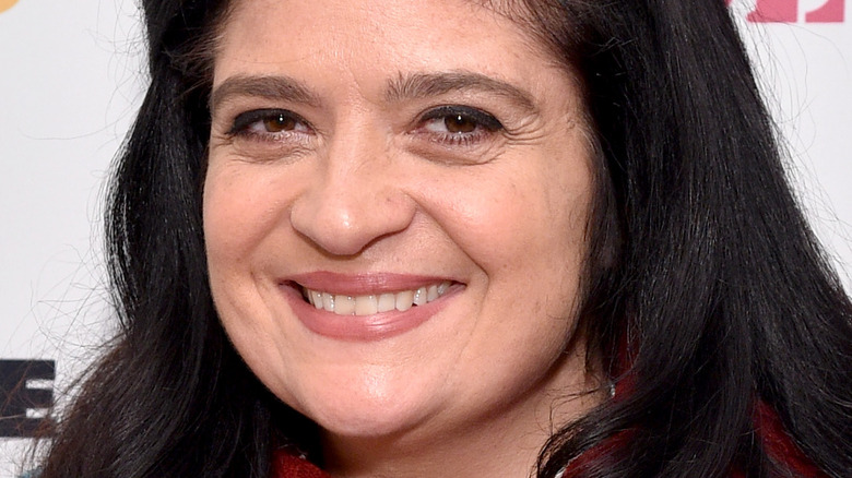 Alex Guarnaschelli smiles on red carpet