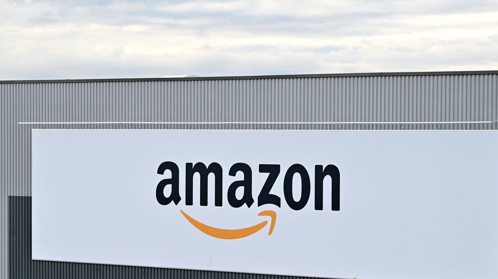 Amazon signage outside a building