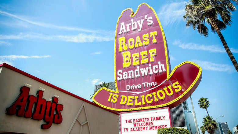 Arby's big hat sign