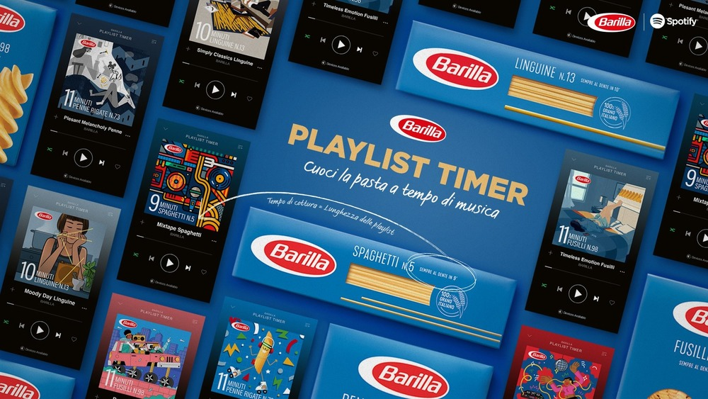 Barilla and Spotify playlist ad