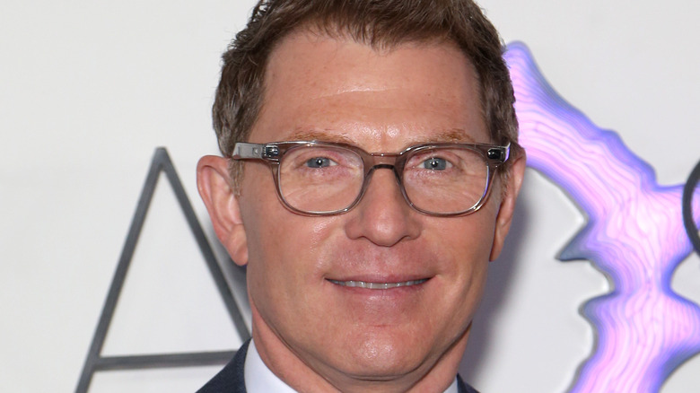 Bobby Flay sporting glasses