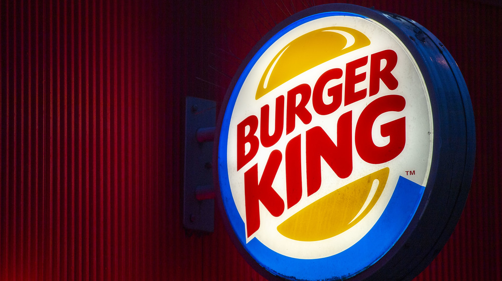 Burger King sign on a red background