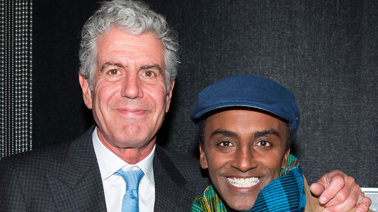 Chefs Marcus Samuelsson and Anthony Bourdain