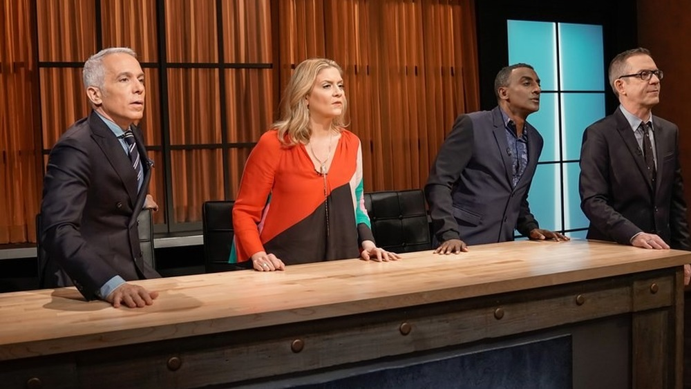 Chopped judges watch contestants cook