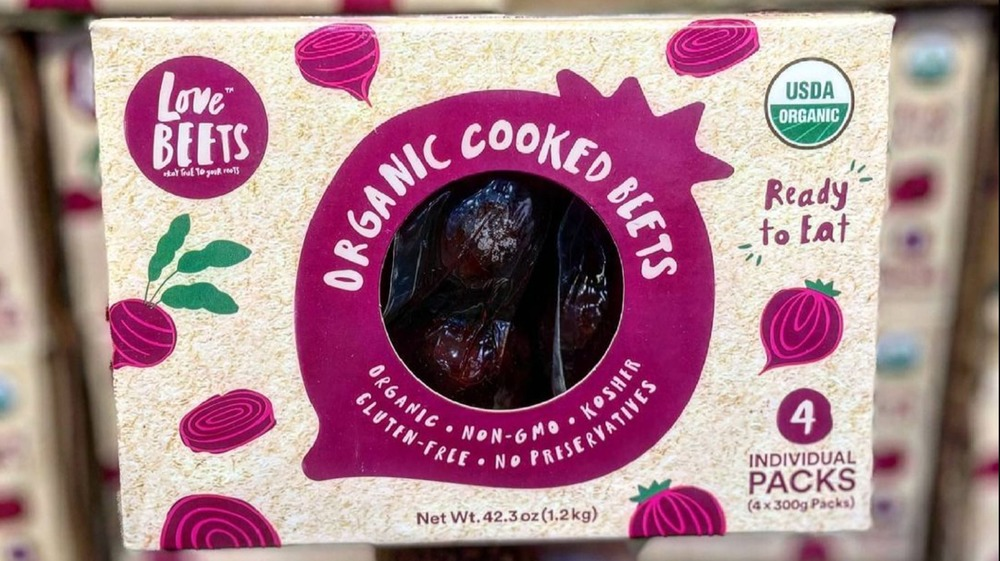 Pack of Costco's organic pre-cooked beets
