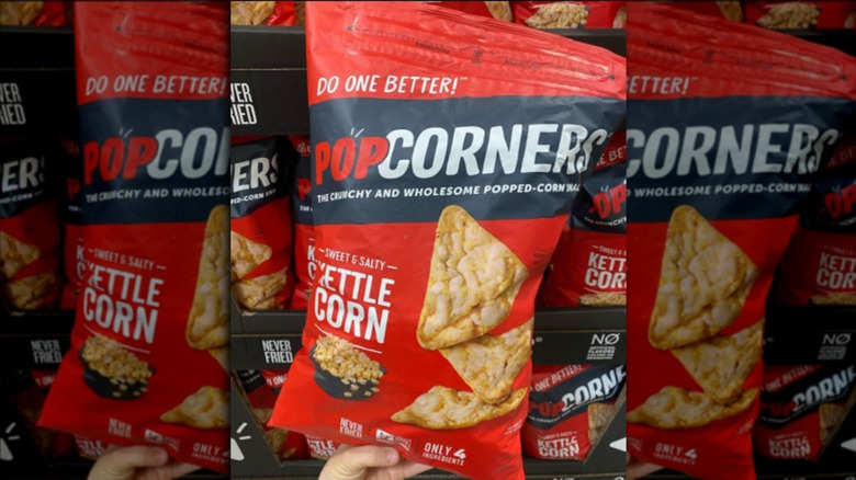 Red bag of PopCorners chips at Costco