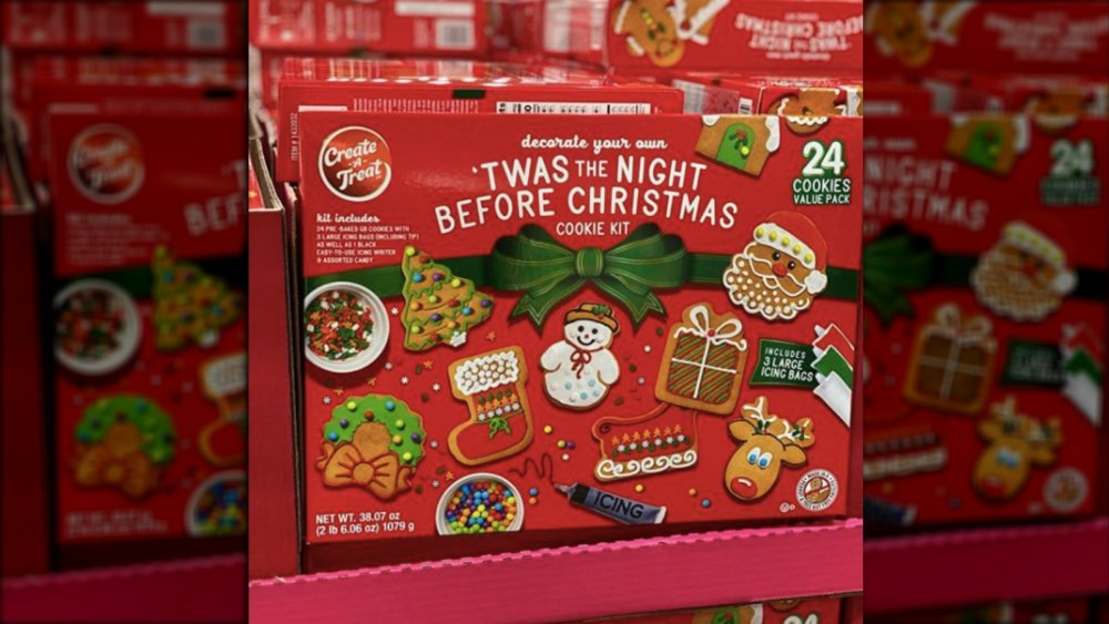 front of the diy cookie kit at Costco