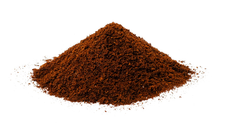 A pile of instant coffee