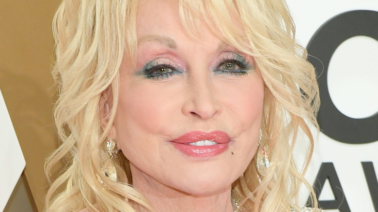 Dolly Parton on CMS red carpet