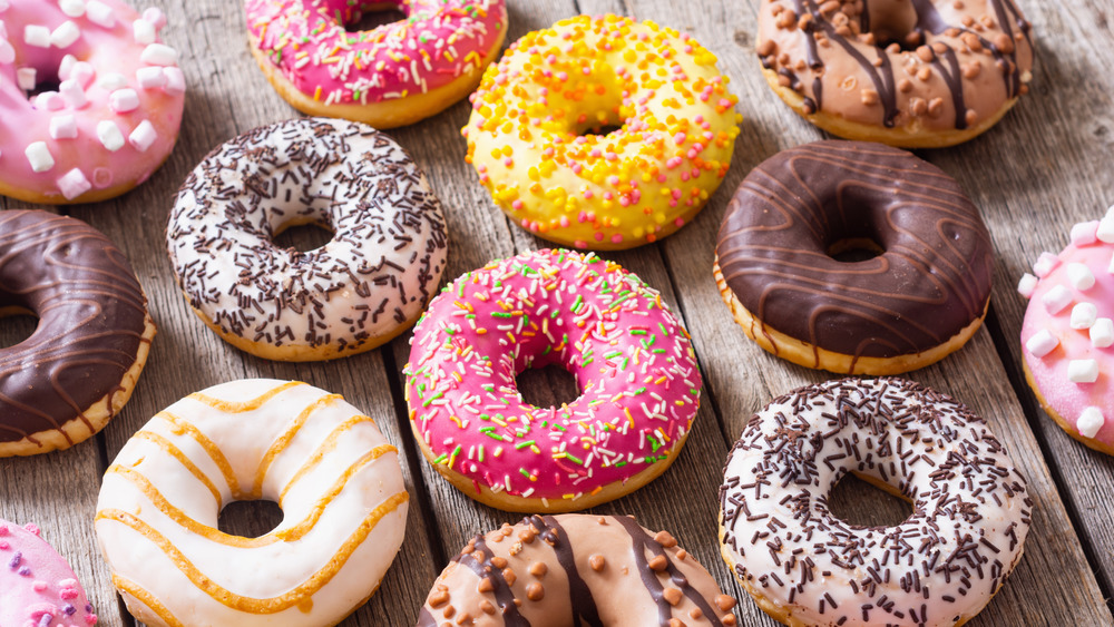 Colorful assortment of doughnuts