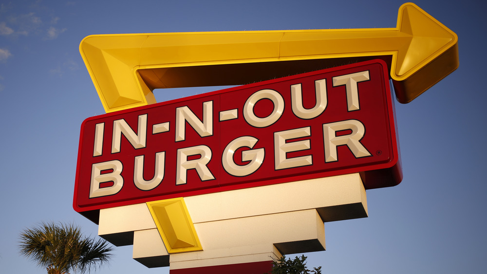 An In-N-Out Burger sign