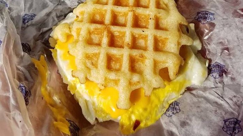 Egg and Cheese Waffle Slider