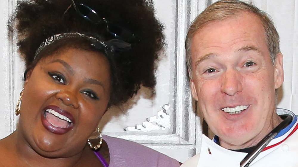 Nicole Byer and Jacques Torres smiling