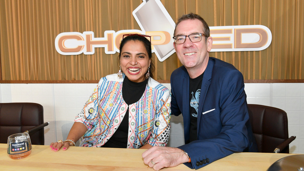 Chopped's Maneet Chauhan and Ted Allen