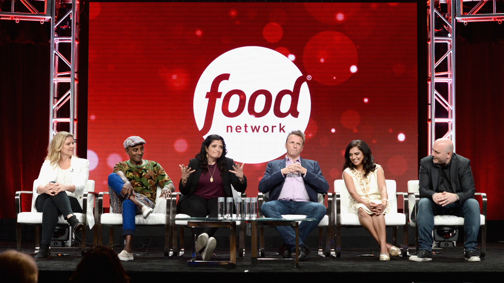 Chopped Judges talking onstage