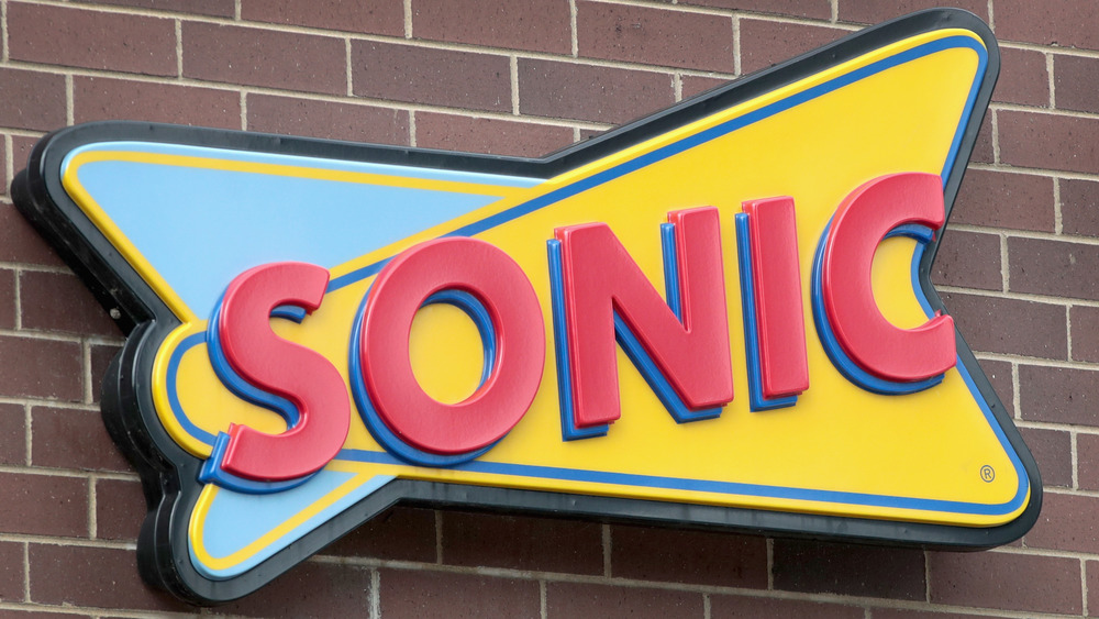 Sonic sign on brick building