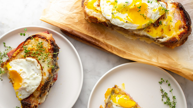 toasted croque madame