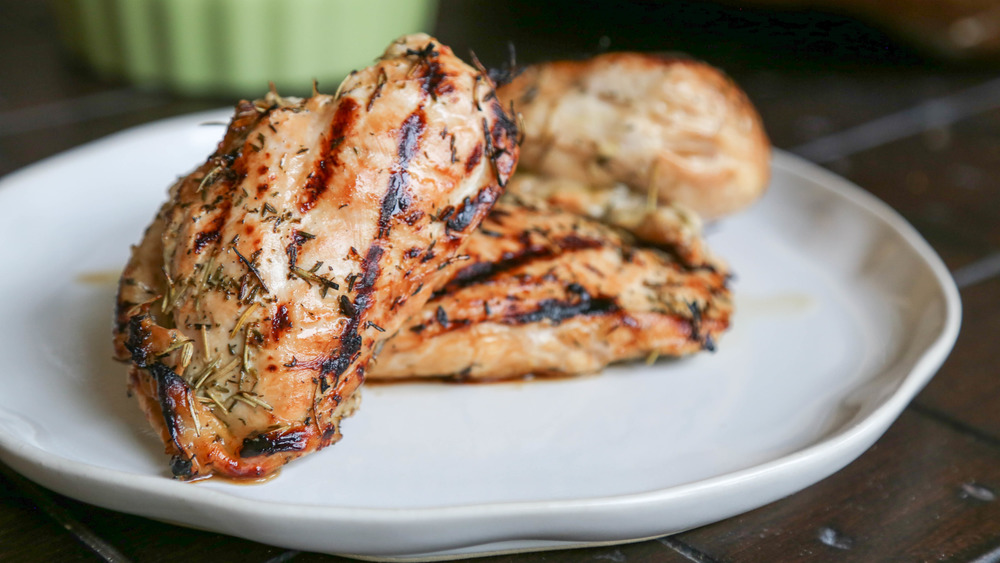grilled chicken recipe on display