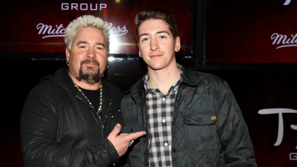 Guy and Guy Fieri's son Hunter