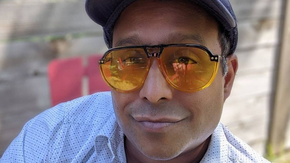 Chef Ali Khan wearing sunglasses