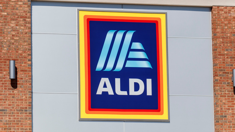 The exterior of an Aldi store