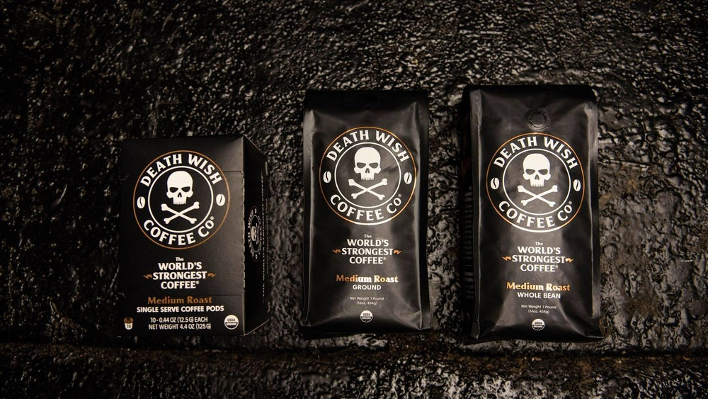 Bags of Death Wish Coffee