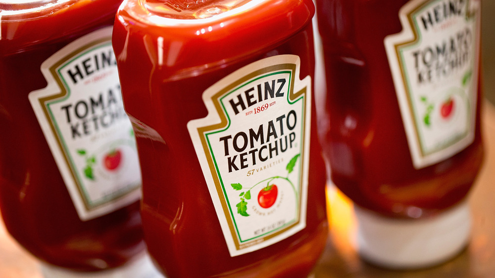 Heinz touchless ketchup dispenser