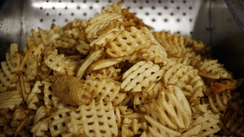 Chick-fil-A waffle fries pile