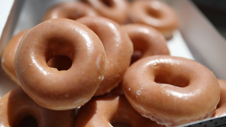 A general image of donuts from Krispy Kreme