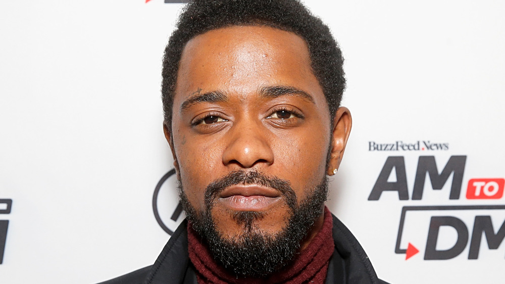 LaKeith Stanfield with a diamond earring