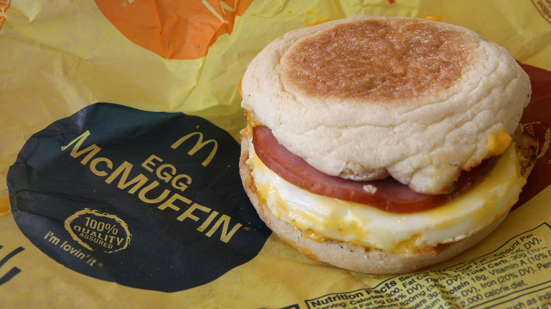 McDonald's Egg McMuffin on wrapper
