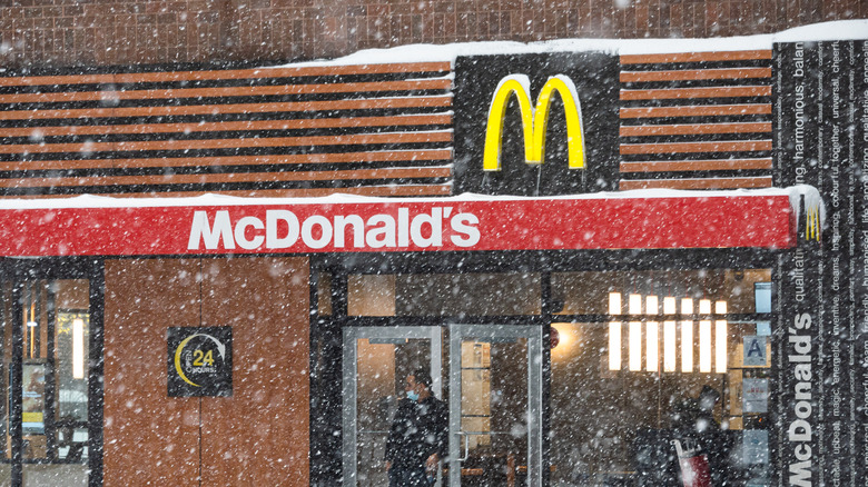 McDonald's on a snowy day