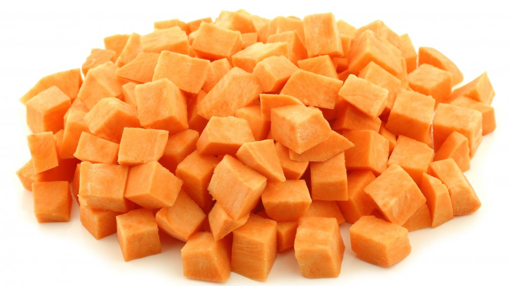 Sweet potato cubes