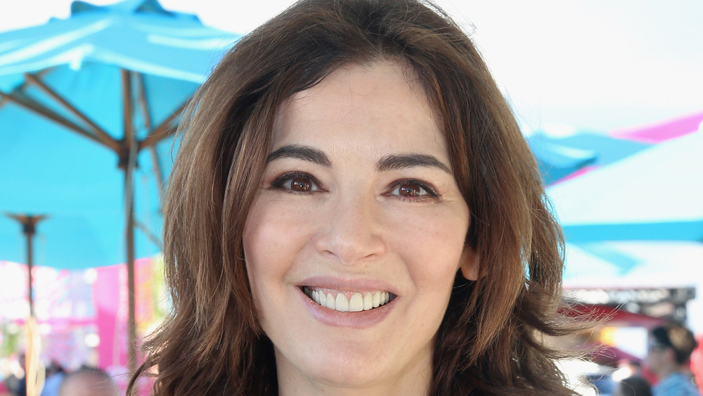 Nigella Lawson smiling big