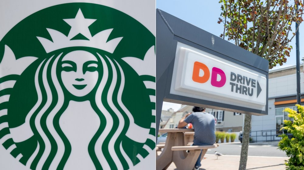 Starbucks and Dunkin' Donuts
