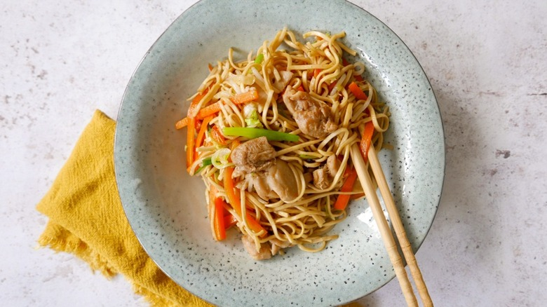 plate of Chow Mein