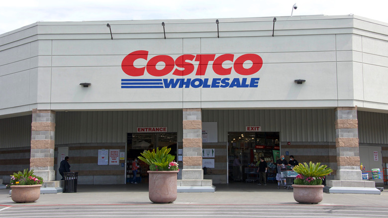 The outside of a Costco building