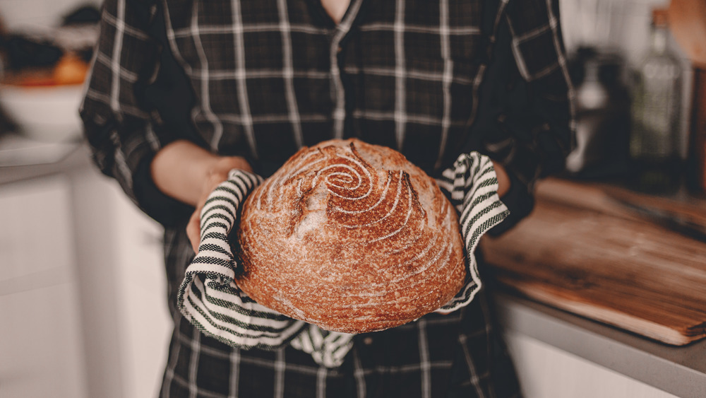 bread baked at home