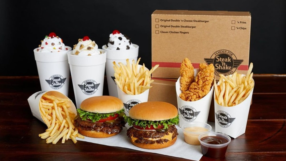 Steak 'N Shake fries, burgers, shakes