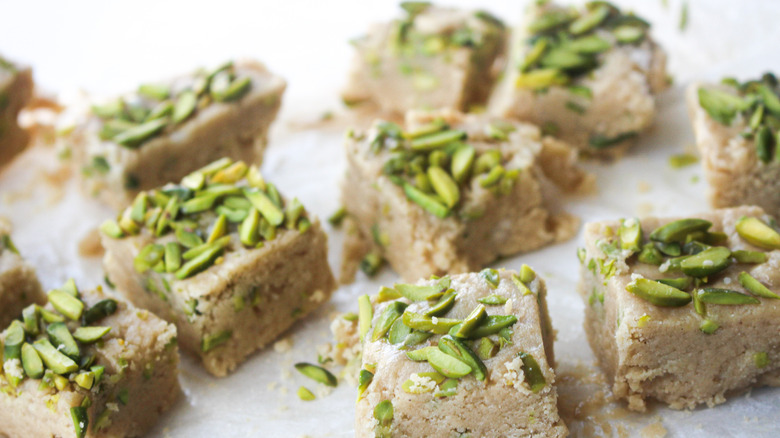cut-up halva on plate