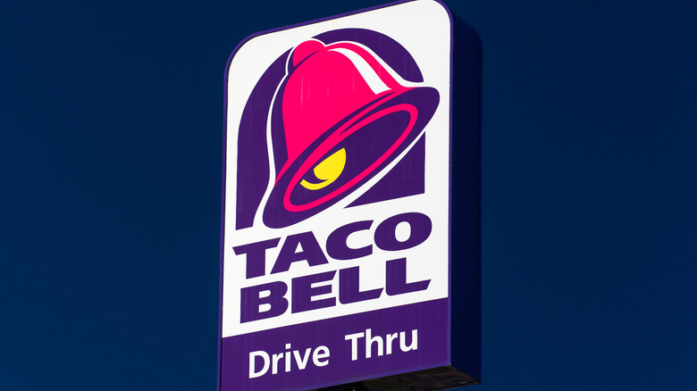 Taco Bell logo against a blue background