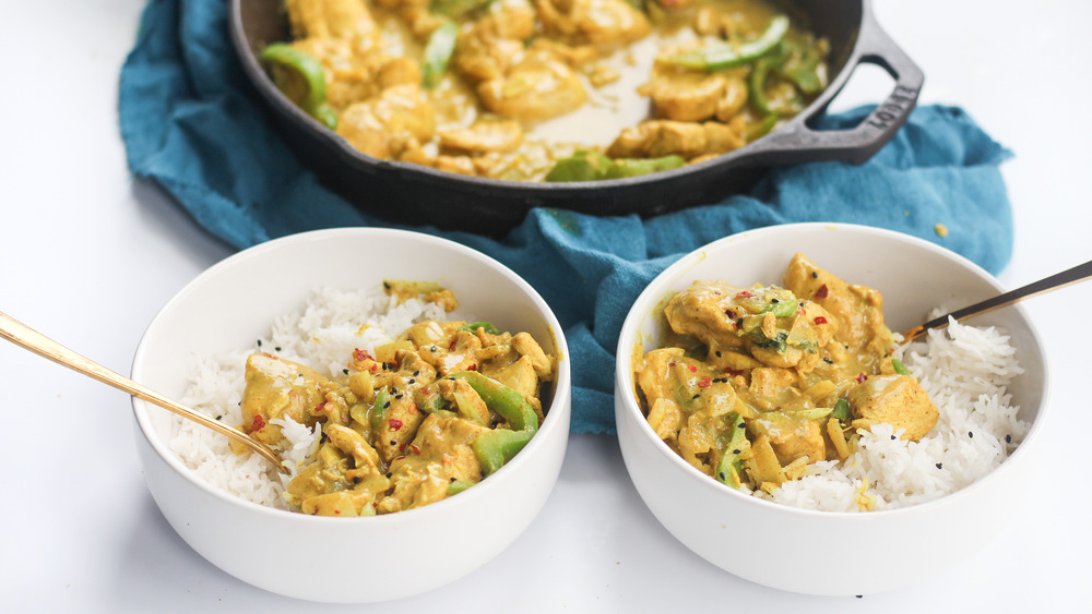 chicken curry in bowls