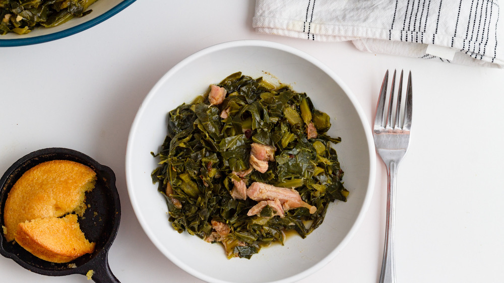 collard greens served