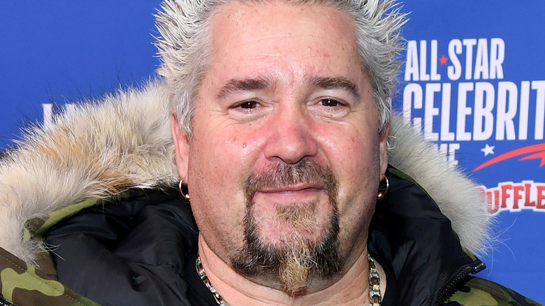 A close-up of celebrity chef Guy Fieri